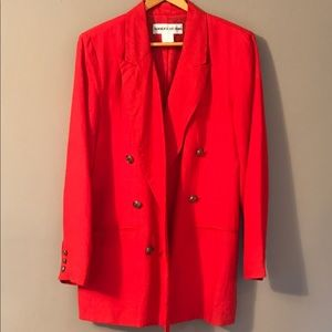 Vintage 90's Red Double Breasted Blazer